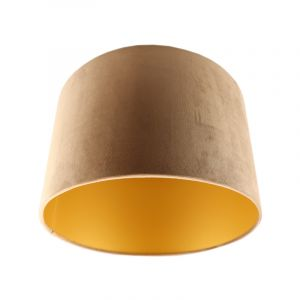 Taupe Velor lampshade Madelyn, Fabric, Modern