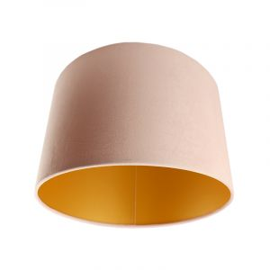 Pink Velor lampshade Madelyn, Fabric, Modern
