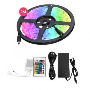 1 meter water-resistant 12V RGB LED strip with remote control, 30 leds and 14,4w p / m