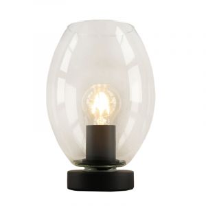 Black Table lamp Iza, Glass, Design, On/off switch on the product