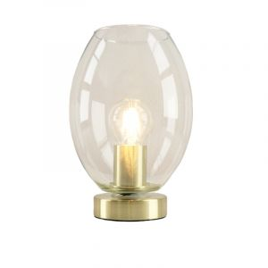 Gold Table lamp Maury, Glass, Design, On/off switch on the product