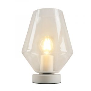 White Table lamp Mavis, Glass, Design, On/off switch on the product