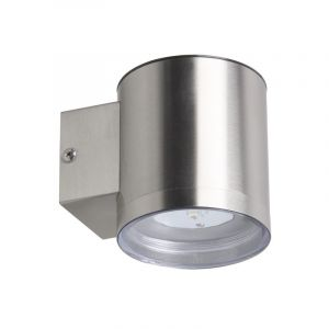 Silver Modern Outdoor wall light on solar energy Gigi, Stainless steel, 1W  integrated LED