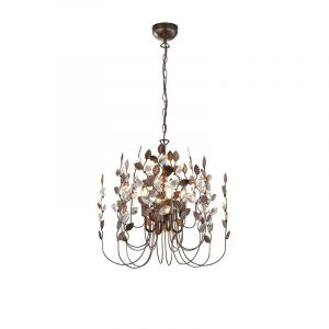 Classic Chandelier Charlotte, Metal, Rust coloured