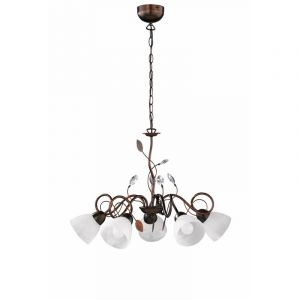 Classic Chandelier Aster, Metal, Rust coloured