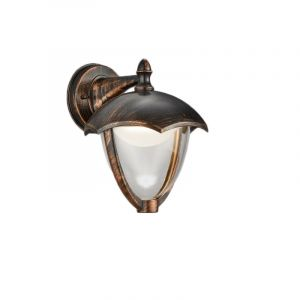 Country Outdoor wall light Yune, Aluminium, Rust coloured, 6W 3000K (Warm white) integrated LED