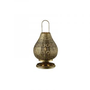 Classic Table lamp Koot, Metal, Bronze, On/off switch on the cord