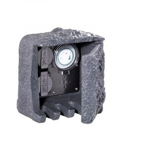 Socket Fjelstervang with timer, Gray