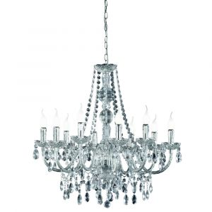 Classic Chandelier Sofia, Polyester, Transparent
