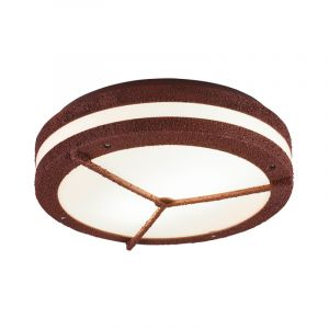 Industrial Outdoor ceiling light Hibo, Polyester, Rust coloured, IP54