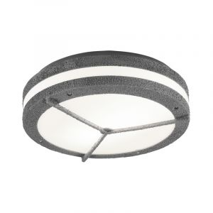 Industrial Outdoor ceiling light Hibo, Polyester, Gray, IP54