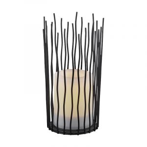Modern Outdoor table lamp Suzanne, Metal, Black, On/off switch on the cord