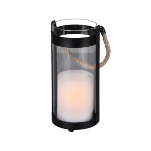 Modern Outdoor table lamp Suzanna, Metal, Black, On/off switch on the cord