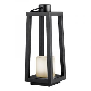 Modern Outdoor table lamp Suzette, Metal, Black, On/off switch on the cord