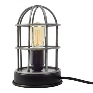 Industrial Table lamp Jaz, Gray, Metal, On/off switch on the cord