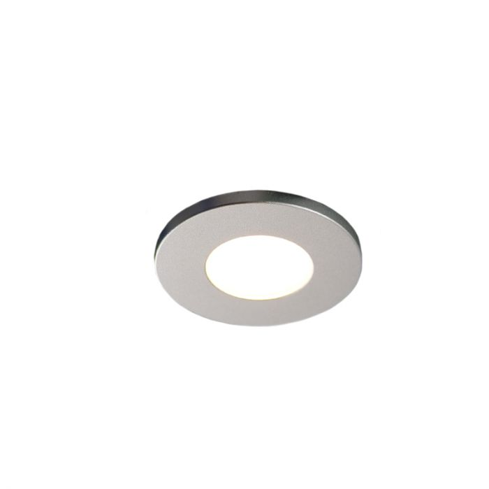 Brushed Chrome Porch lighting Dico, IP65, dimmable
