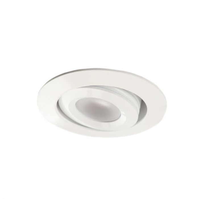 Rona tiltable porch recessed spot, IP65, dimmable, white