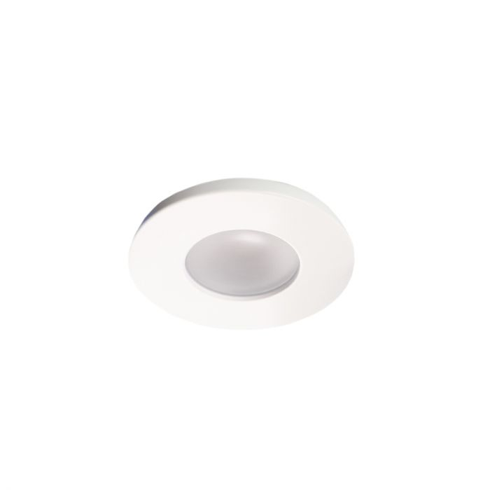 4 white porch recessed spotlights Dico, IP65, incl. Connection set and remote control
