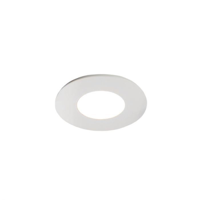 6 white porch recessed spotlights Dico, IP65, incl. Connection set and remote control