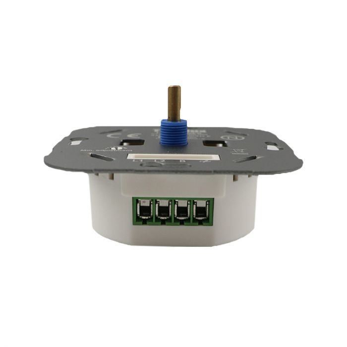 LED dimmer, 5 - 150W, with white cover frame and central plate