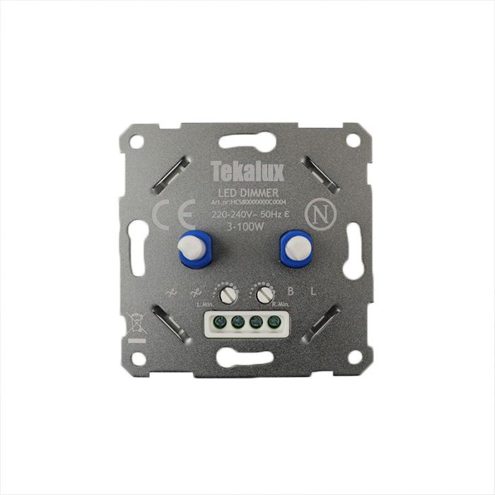 Duo Dimmer Enzo, Metal, Gray, Switch