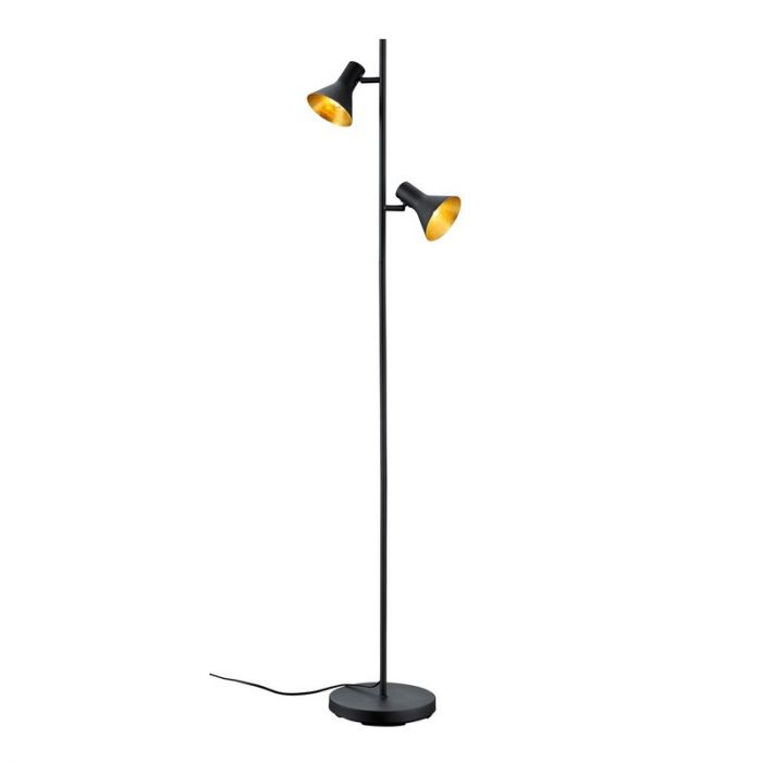 Industrial Floor lamp Vero, Metal, Black, On/off switch on the cord